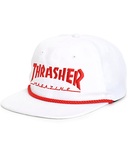 8544cc0e500 Thrasher Structureless Rope Snapback Hat