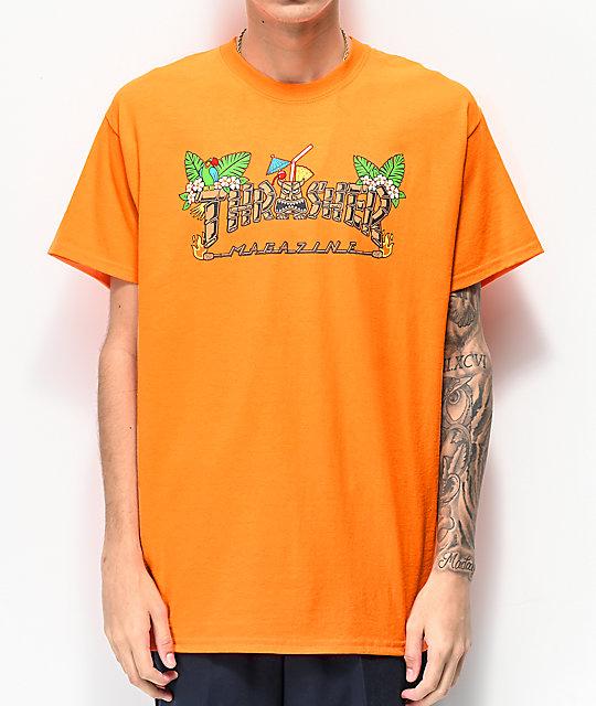 a89606798e51 Thrasher Tiki Orange T Shirt Zumiez