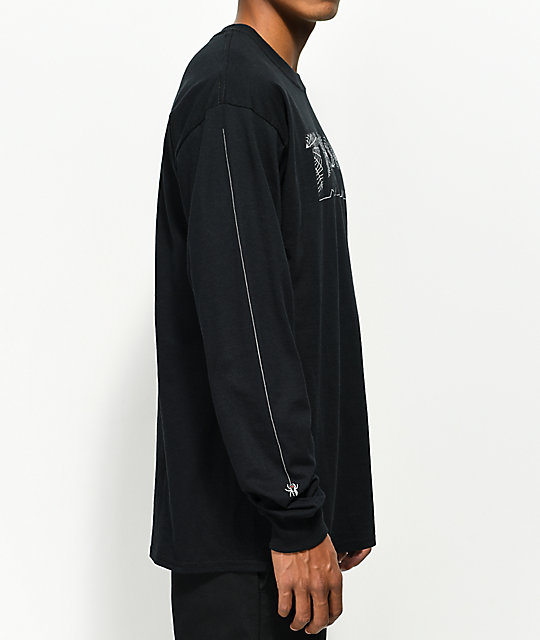 Thrasher Web Long Sleeve Black T-Shirt