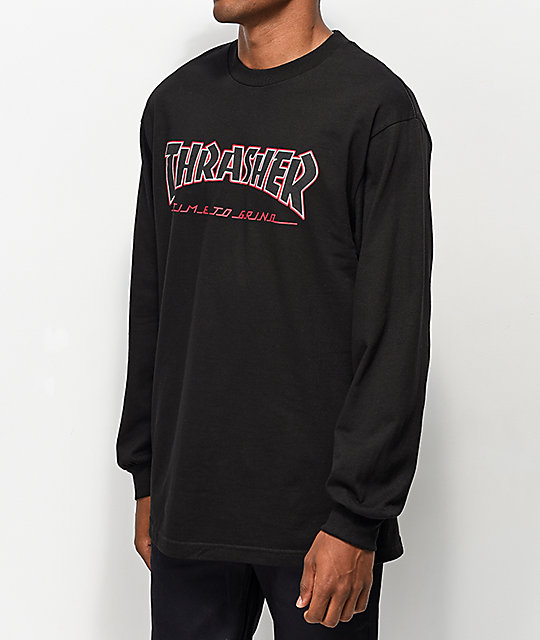 Thrasher x Independent Time To Go Black Long Sleeve T-Shirt