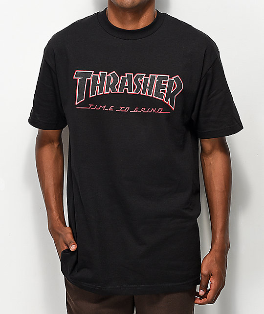 Thrasher x Independent Time To Go camiseta negra