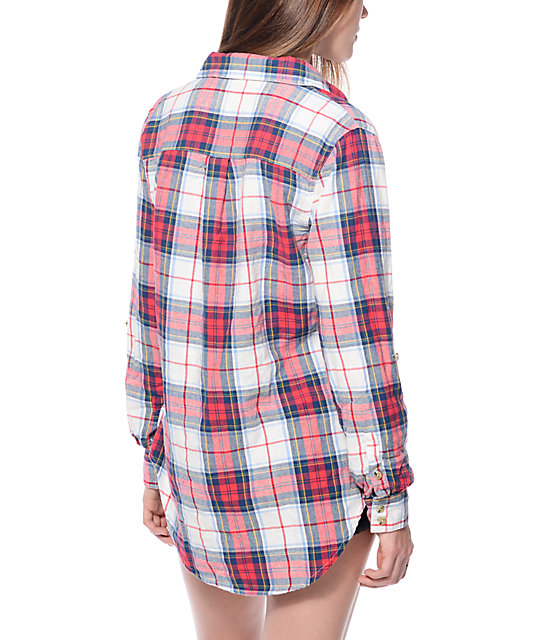 Thread & Supply James Red Plaid & Cream Shirt