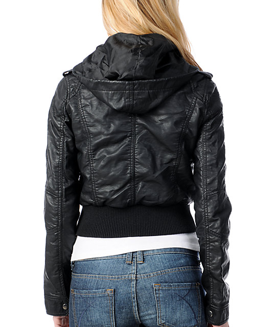 Thread and Supply Black Faux Leather Jacket