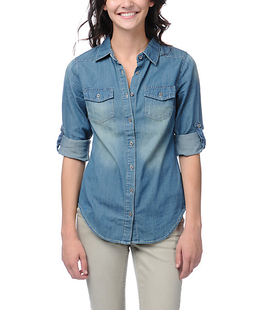 2241869fc11 Thread and Supply Denim Chambray Button Up Shirt