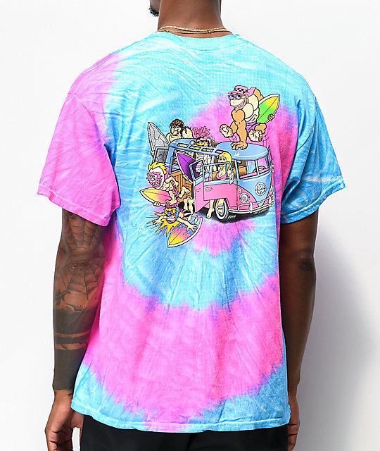 Nuovi Prodotti Il meglio del 2019 cercare Thrilla Krew Microbus Blue & Pink Tie Dye T-Shirt   Zumiez