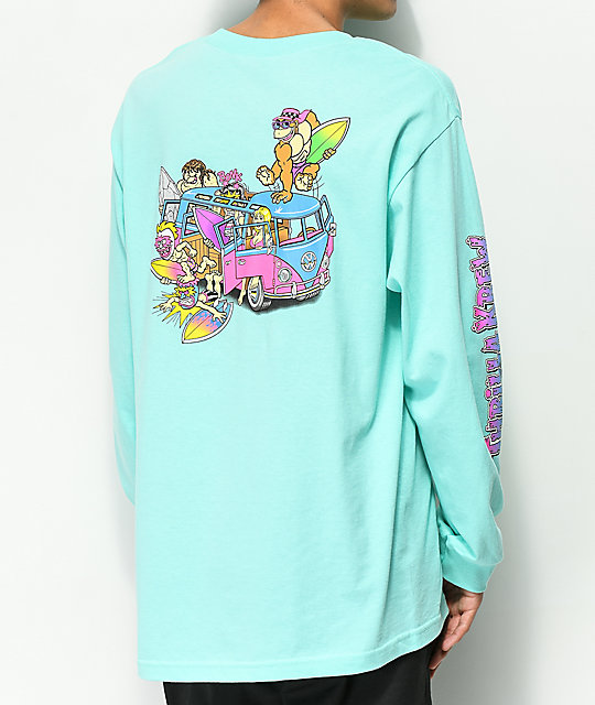 Thrilla Krew Microbus Celadon Long Sleeve T-Shirt
