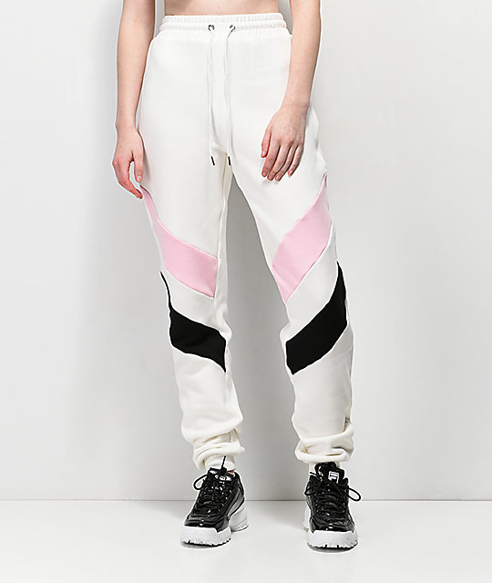 Tiger Mist Zoey White Sweatpants
