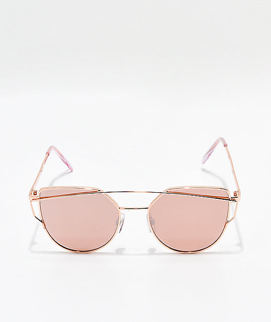 Tight Rope Rose Gold Smoke Mirror Sunglasses