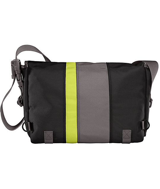Timbuk2 D-Lux Race Stripe Lime Medium Laptop Messenger Bag