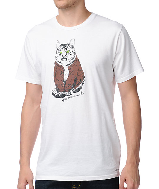 Toddland Purrrvert White T-Shirt