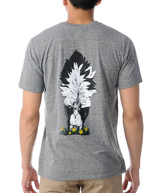 Toddland Skunked Heather Grey T-Shirt