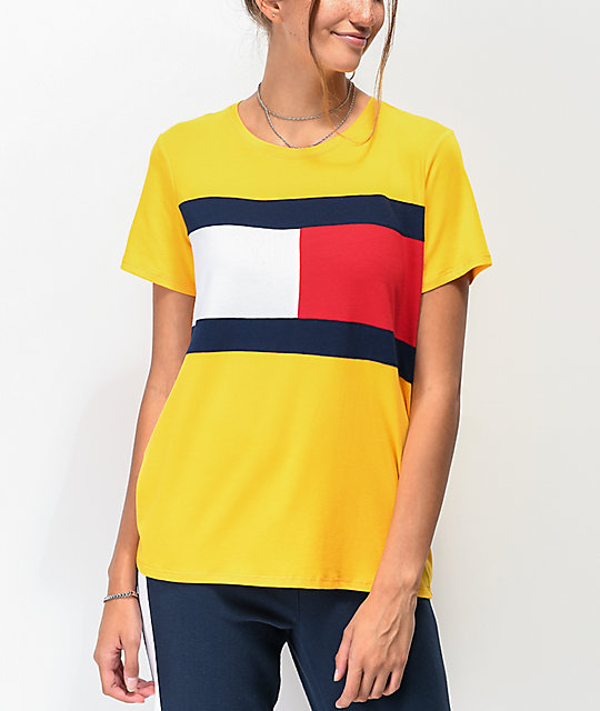 Tommy Hilfiger Flag Block Gold T-Shirt