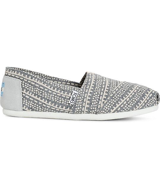 9c862ff8199 ... Toms Alpargata Grey Printed Wool Womens Shoes