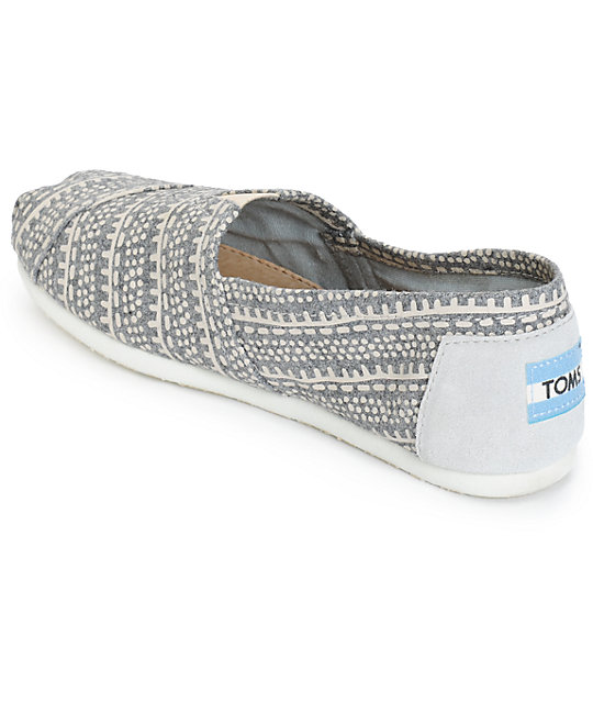 75d2130706a ... Toms Alpargata Grey Printed Wool Womens Shoes ...