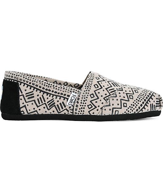 a57f1eda6ca ... Toms Alpargata Taupe Printed Wool Womens Shoes