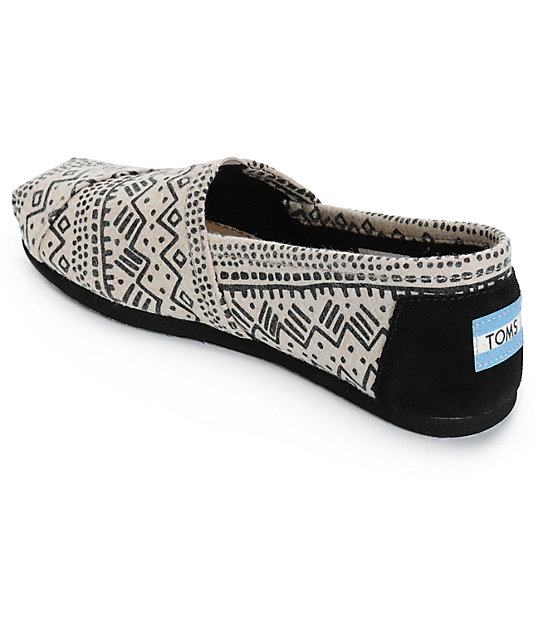 aecaecbc71a ... Toms Alpargata Taupe Printed Wool Womens Shoes ...