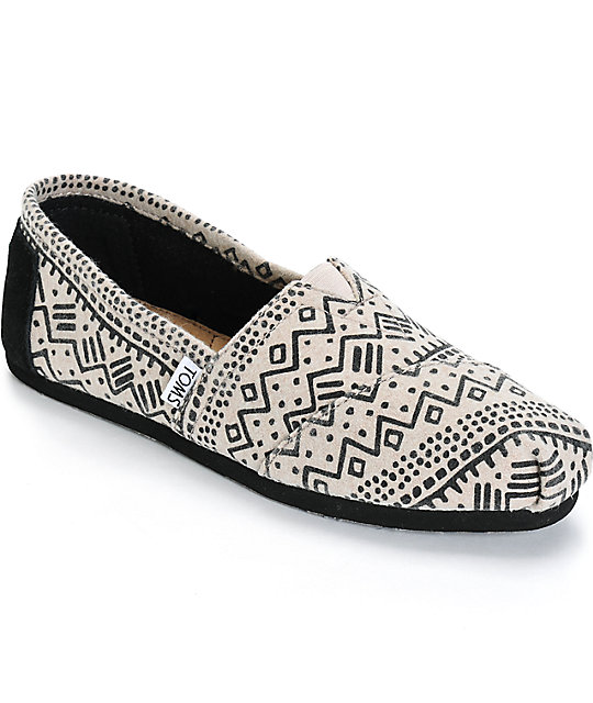 d78776a4f9c Toms Alpargata Taupe Printed Wool Womens Shoes