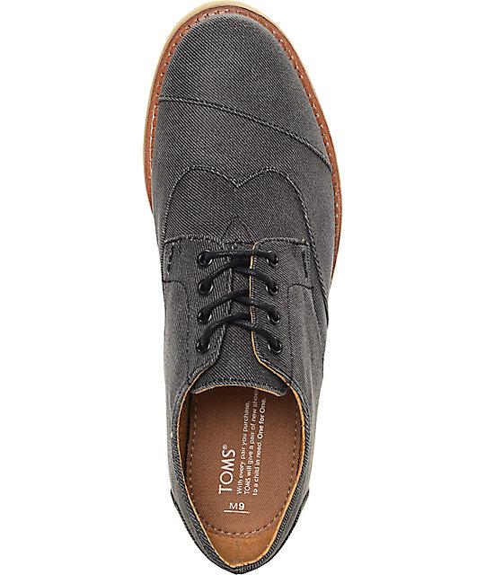 374d5d32c3b ... Toms Brogue Lace Up Ash Aviator Twill Shoes ...