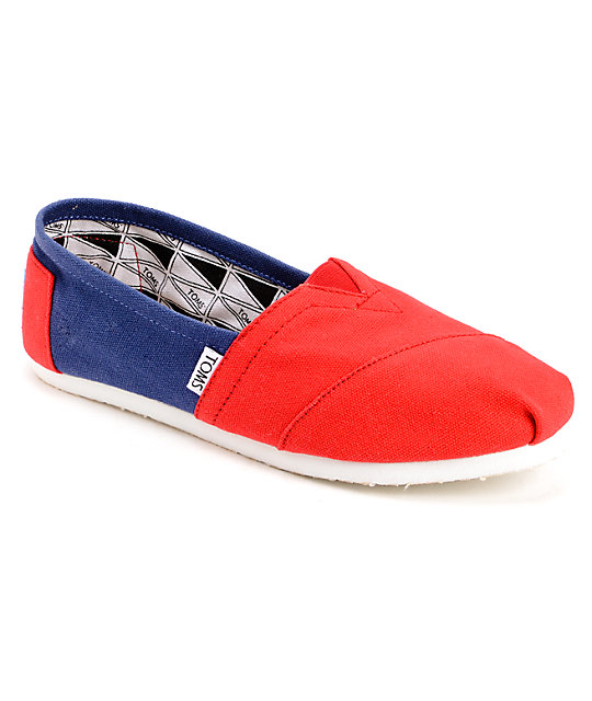 Toms Campus Classics Arizona Womens Slip On Shoes