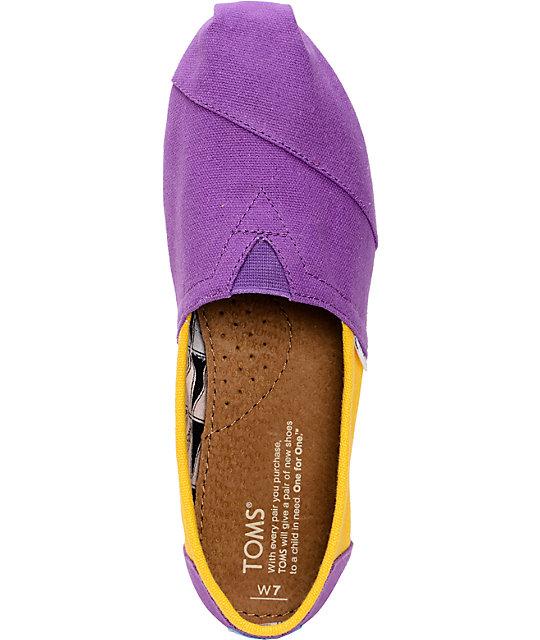 dc6b2a622f1 ... Toms Campus Classics LSU Womens Slip On Shoes ...