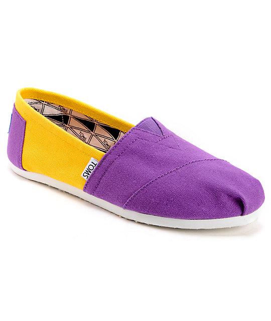 3f484dd1e17 Toms Campus Classics LSU Womens Slip On Shoes