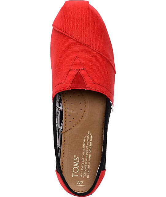 Toms Campus Classics Texas Tech Womens Slip On Shoes