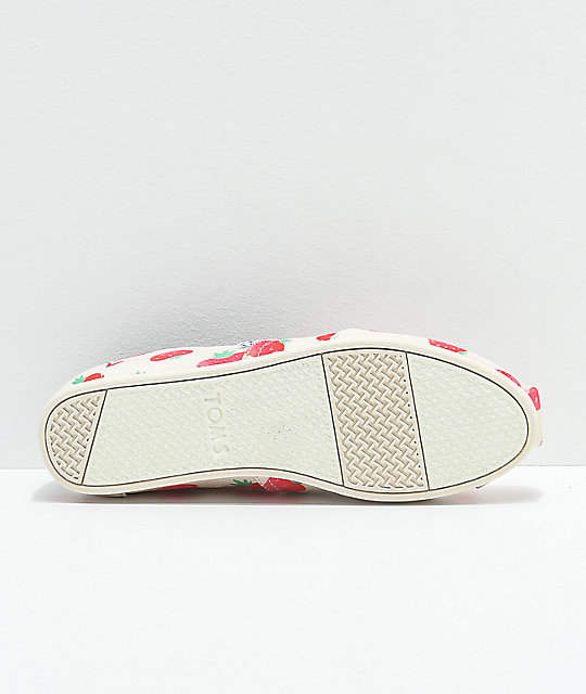 Toms Classic Birch Strawberries & Cream Shoes