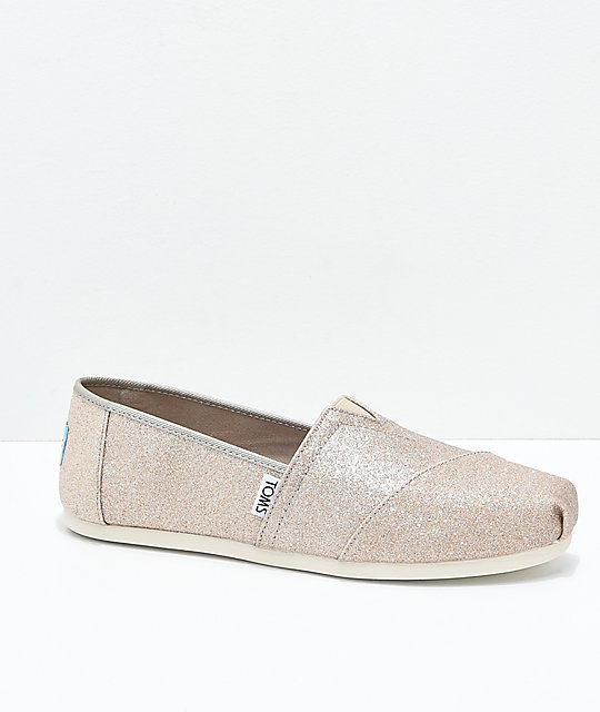 new product d16a5 a5aec Toms Classic Gold Glimmer Shoes