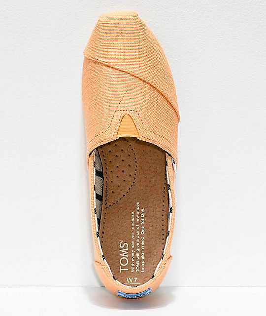 Toms Classic Venice Orange Mist Shoes