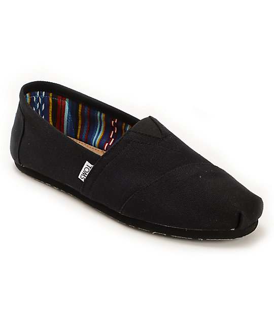 6addfb789a Toms Classics All Black Slip On Mens Shoes | Zumiez