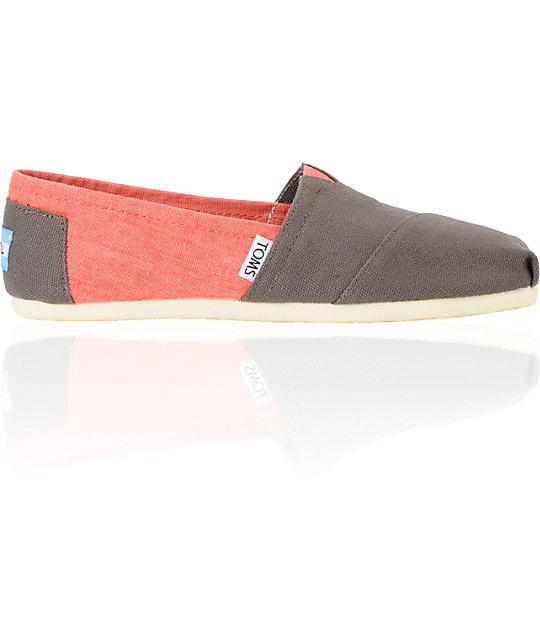 Toms Classics Ash & Georgia Peach Womens Shoes