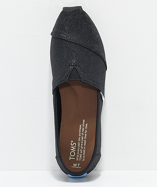 Toms Classics Black Glimmer Shoes
