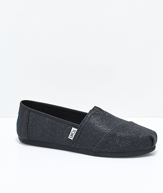 Toms Classic Black Glimmer Shoes  f339b559bd69