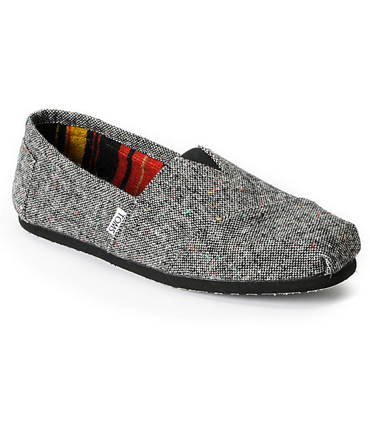 Toms Classics Black Holden Wool Mens Shoes