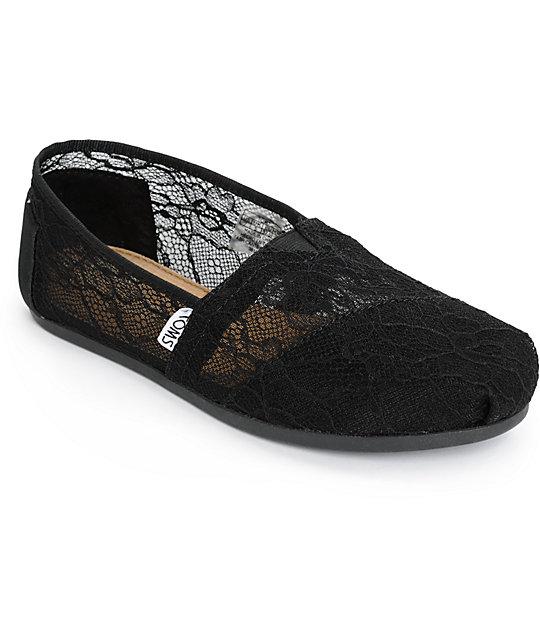 Toms Classics Black Lace Womens Shoes  7e8dea201