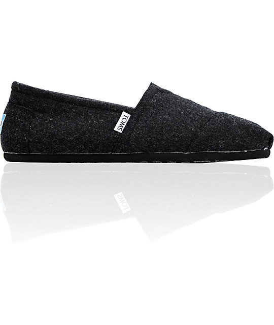 Toms Classics Black Wool Mens Shoes
