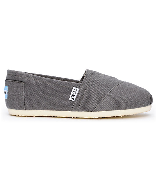Toms Classics Canvas Ash Slip-On Womens Shoes