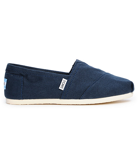 Toms Classics Canvas Navy Slip-On Womens Shoes