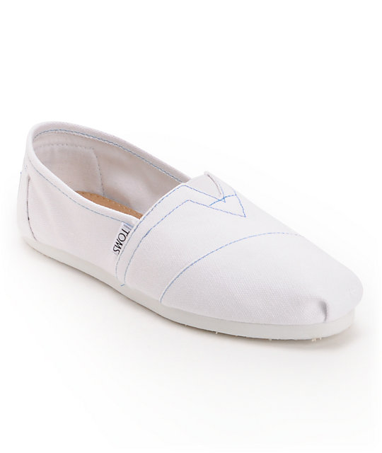 Toms Classics Canvas White Women's Shoes