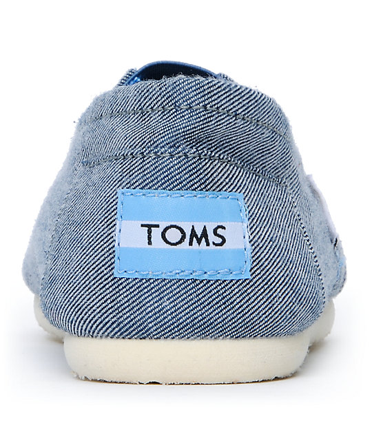 Toms Classics Corry Chambray Canvas Womens Slip On Shoes