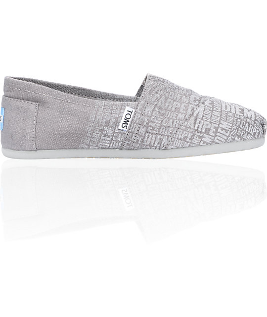 Toms Classics Grey Carpe Diem Womens Shoes