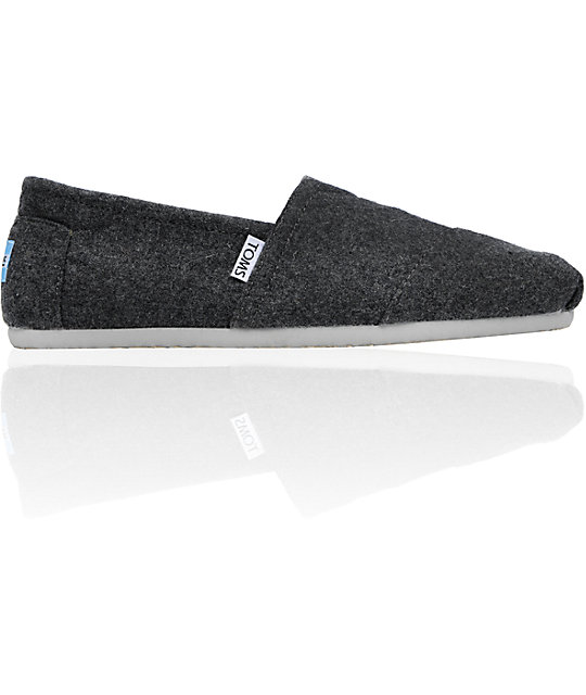 Toms Classics Grey Wool Mens Shoes