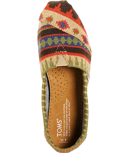 Toms Classics Kilim Pattern Womens Shoes