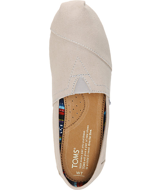 ... Toms Classics Light Grey Canvas Womens Shoes ...