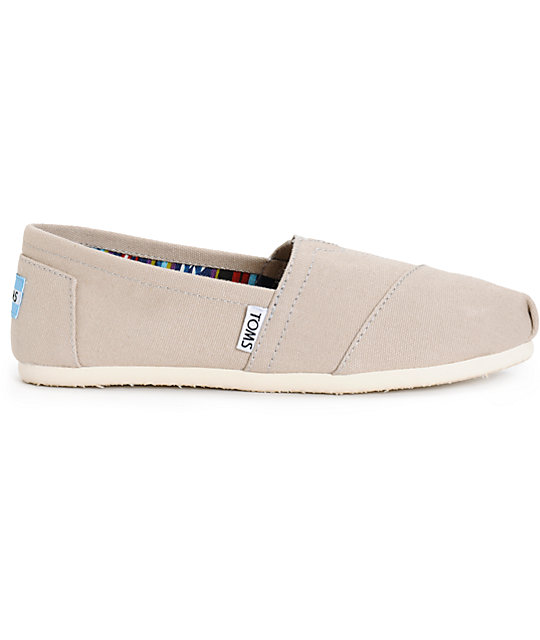 Toms Classics Light Grey Canvas Womens Shoes