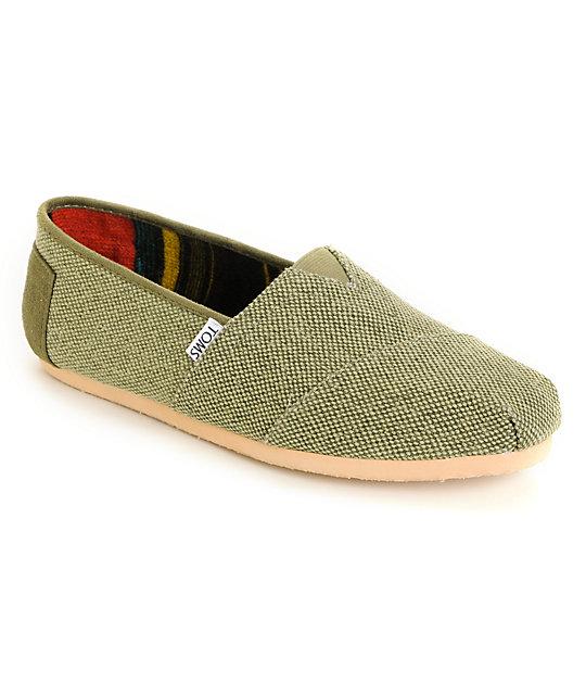 047e546c9ca Toms Classics Olive Green Farrin Mens Shoes