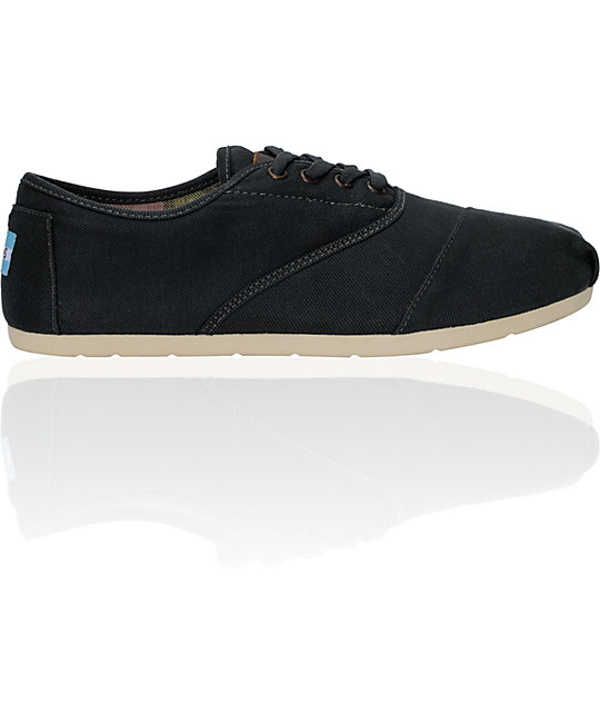Toms Cordones Ash Wax Canvas Shoes