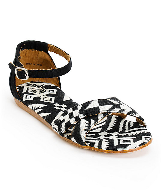 ffd16b9a2d0 Toms Correa Black Woven Womens Sandals