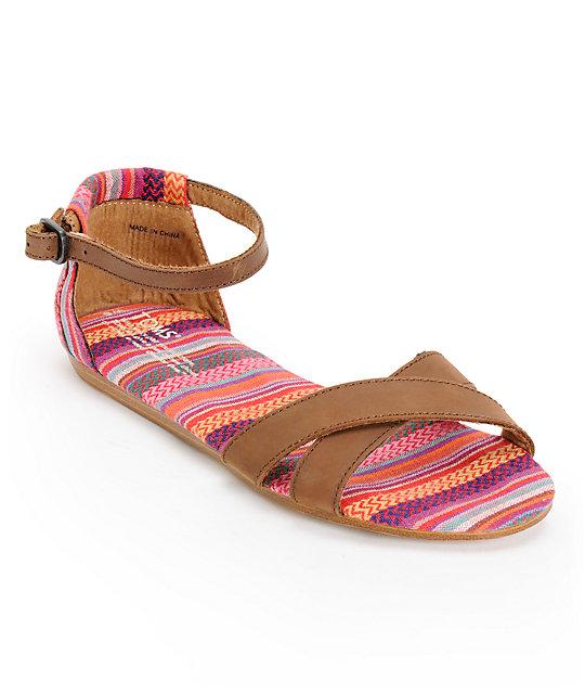 64bd3ea0b3b Toms Correa Stripes Mix   Leather Womens Sandals