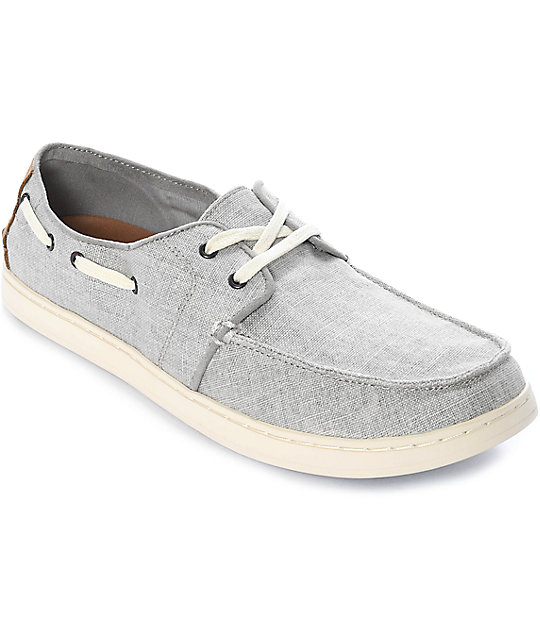 Toms Culver Lace Up Drizzle Grey Coated Linen Shoes